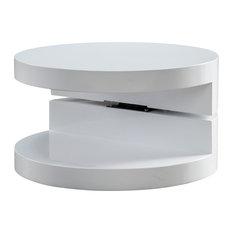 GDFStudio   Emerson Small Circular Mod Swivel Coffee Table   Coffee Tables