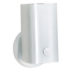 Satco Lighting 1 Light 7 Vanity With White U Channel Glass With