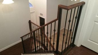 Homestead interior iron staircase railings