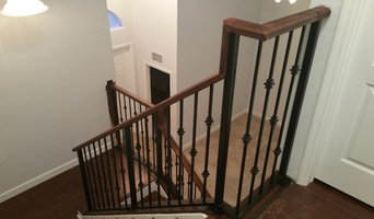 Homestead interior iron staircase railings