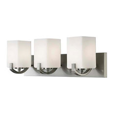 "Canarm IVL422A03 Palmer 3 Light 24""W Bathroom Vanity Light - Nickel"