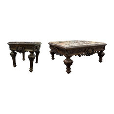 Furniture Import \u0026 Export Inc. - Traditional Living Room Coffee Table and End Table  sc 1 st  Houzz & Most Popular Victorian Coffee Table Sets for 2018 | Houzz