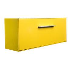 modboxUSA Modern Vertical Wall Mounted Mailbox, Sunflower, Yellow