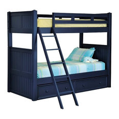 Annapolis Blue Twin Size Bunk Beds with Storage Drawers