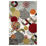 "Mohawk Home - Give And Take Kaleidoscope Rug, 7'6""X10' - Printed on the same machines that manufacture one of the world's leading brands of printed carpet, this rug is extremely durable and vibrant. This technology allows the use of multiple colors to create a rug that is wonderfully designed and applicable to any room in your home."