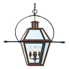 Luxury Historic Copper Outdoor Pendant Light, Large, UQL1214, Paris Collection