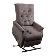Warrington Chocolate Fabric Lift Up Chair