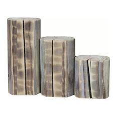 Three Piece Piller Set, Natural