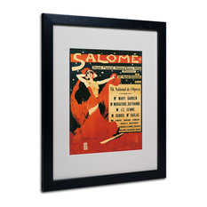 "'Poster of Opera Salome, 1910' Art, White Matte, Black Frame, 16"" X 20"""