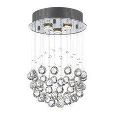 Modern Chandelier Rain Drop Crystal Ball Ceiling Lamp Chandeliers