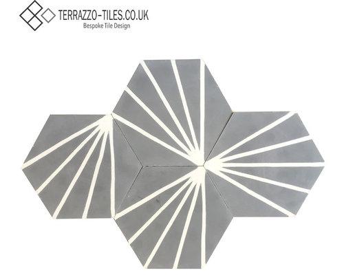 Hexagonal Graphic Encaustic Cement Tiles Wall And Floor Tile