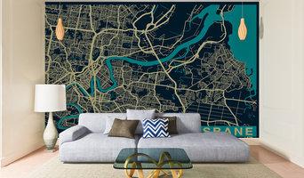 City Map Wallpaper - Brisbane