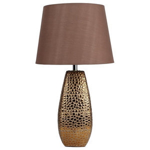 Croc Table Lamp Small, Antique Gold Finish