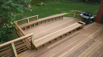 Ipe Deck with Curved Bench