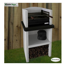 Kingston Easy Assemble Stone Barbecue with Grill