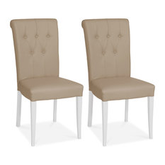 1st Avenue - Hertford Roll Back Faux Leather Dining Chairs, Set of 2 - Dining Chairs