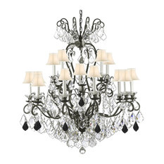 Colorful chandeliers houzz gallery lighting iron chandelier with color crystal shades white crystal swarovski aloadofball Gallery