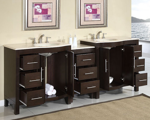 Modular bathroom vanities for Prefabricated bathroom cabinets