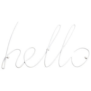 Block Hello Coat Rack, White