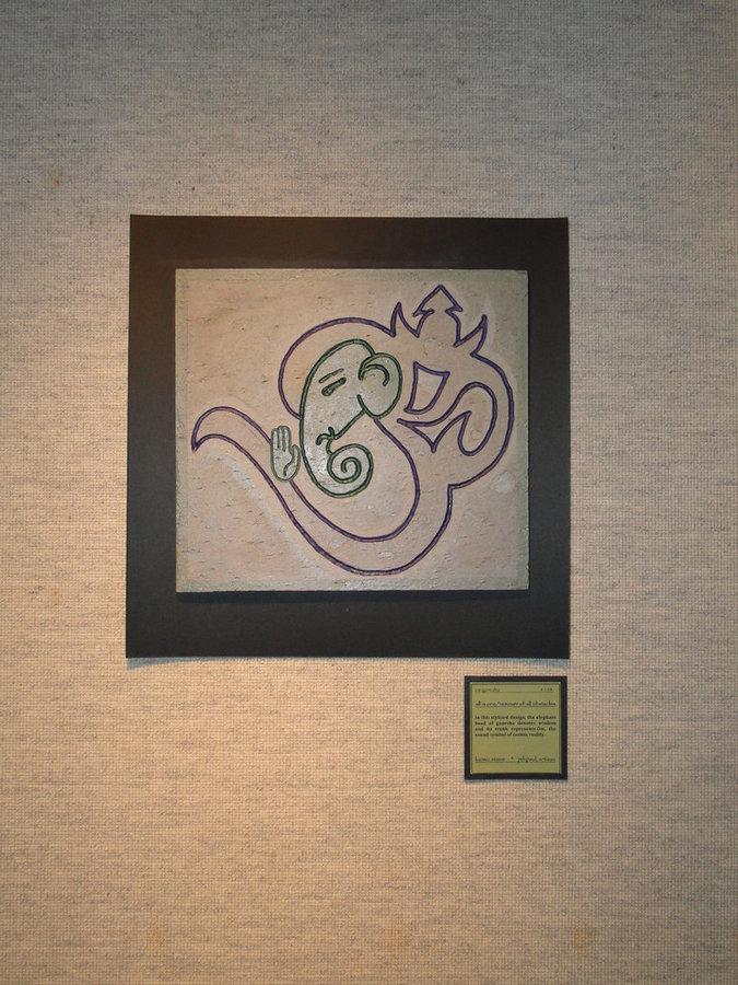 om ganesha abstract hindu art- Gods & Goddesses collection