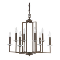 Capital Lighting 4817BB Morgan 8-Light Chandelier, Burnished Bronze