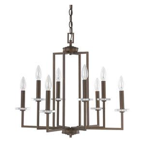 Capital Lighting 4817BB Morgan 8-Light Chandelier, Burnished Bronze