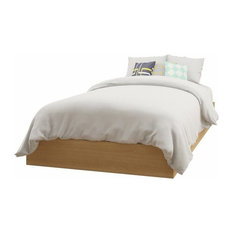 Luxeria Home - Twin Platform Bed, Natural Maple - Platform Beds