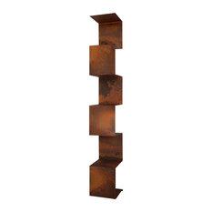 Segmento Steel Bookcase, Weathered, Large