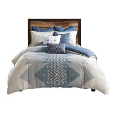 INK+IVY 3 Piece Duvet Cover Mini Set in Blue Finish II12-763