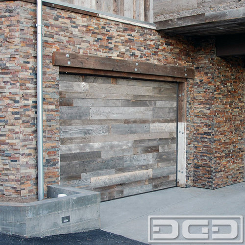 Reclaimed Flooring California: Reclaimed Wood Garage Doors For A Modern Industrial Home