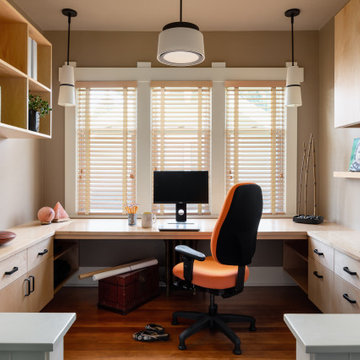 Craftsman Four Square, Seattle, WA - Master Bedroom and Home Office