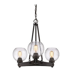 Golden 3-Light Chandelier, Rubbed Bronze