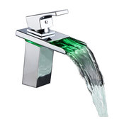 Waterfall Style LED Thermal Sink Faucet