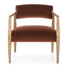 Vivan Burnt Auburn Velvet Arm Chair