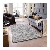 Sumi Grey Rectangle Funky Rug 160x230cm