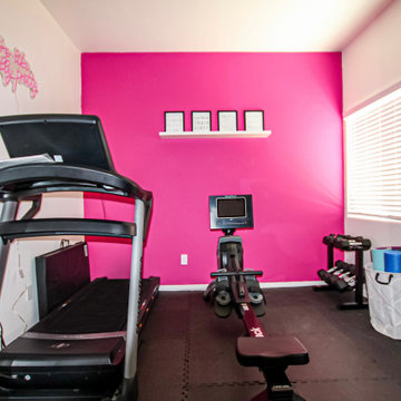 Pinked Out Home Gym