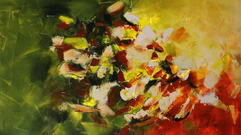 """40""""x30"""" Artwork called Minerals by Preethi Original Large Modern Painting"""