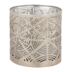 """Contemporary 4""""x4"""" Cylindrical Iron Waste Can"""