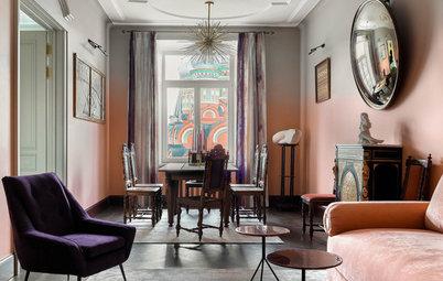 Arte contemporáneo y tradición rusa en un bonito piso en Moscú