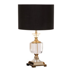 Urban Designs Euro Crystal and Brass Table Lamp