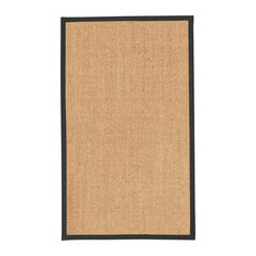 """South Beach"" Sisal Rug, 100% Natural Fiber, Gold/Multi, 8' X 10', Contemporary"