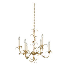Ainsley 6 Light Chandelier in Oxidized Gold Leaf