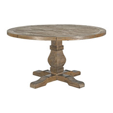 Quincy Reclaimed Pine Round Dining Table by Kosas Home