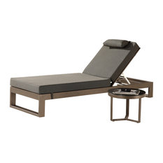 Amber Modern Outdoor  Chaise Lounge