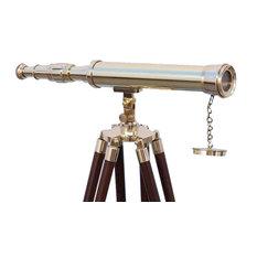 Floor Standing Brass Harbor Master Telescope 50'', Harbormaster Telescope, Brass