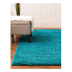 Cozy Solid Shag Rug Turquoise 6' 7'' X 9' 6''