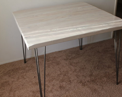 White Wash Wood Dining Table: Whitewash Reclaimed Wood Dining Table