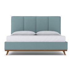 Carter Upholstered Bed, Cloud Velvet, Queen