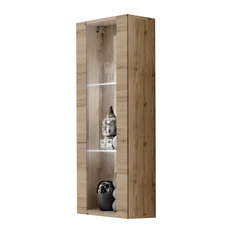 Fly Modular Wall Mounted Floating Bookcase Cabinet Type-21 Oak