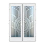 Entry Door, Sun Odyssey II, 2D Frosted, Geometric